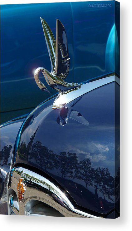 Hood Ornament Acrylic Print featuring the photograph 1949 Packard Super Eight Touring Sedan by Garth Glazier