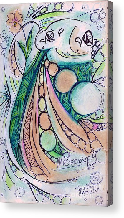 Colors Were Taken From Flowers Acrylic Print featuring the drawing untitled DRAWING by Anthony Masterjoseph