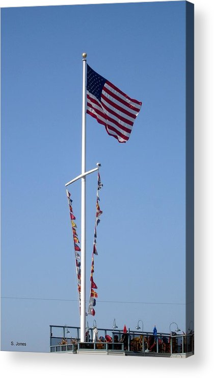 American Flag Acrylic Print featuring the photograph American Flag by Shelley Jones