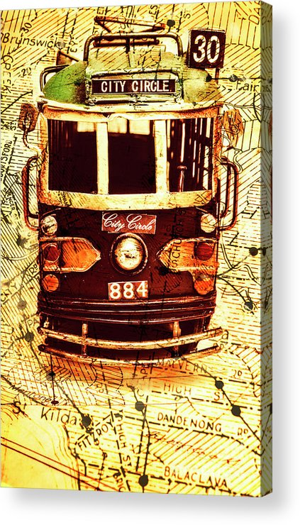 Australia Acrylic Print featuring the photograph Australia Travel Tram Map by Jorgo Photography - Wall Art Gallery