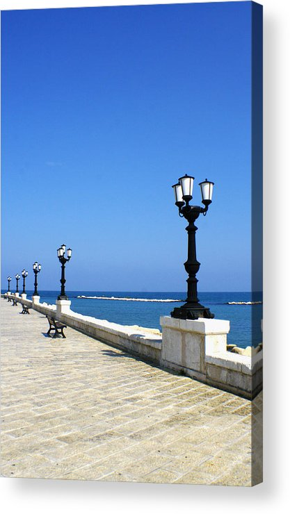 Bari Acrylic Print featuring the photograph Bari Waterfront by Rob Tullis