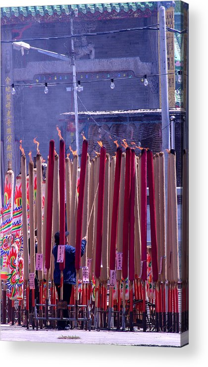 Incense Acrylic Print featuring the photograph Burning Confusion by Mark Mah