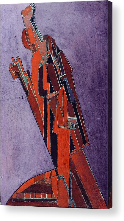 Figure Acrylic Print featuring the painting Figure Study Design For Sculpture by Lawrence Atkinson