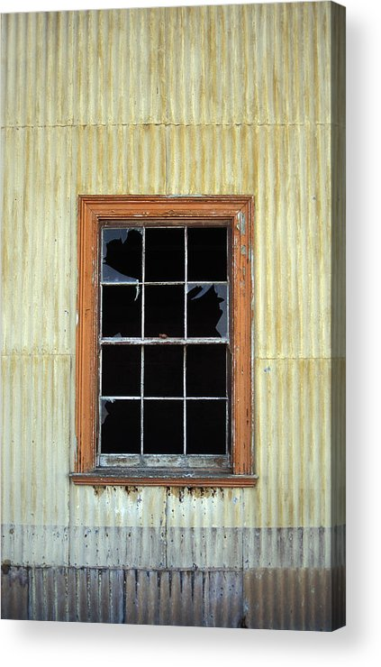 Broken Window Patagonia Chile Acrylic Print featuring the photograph Kitchen Window by Marcus Best