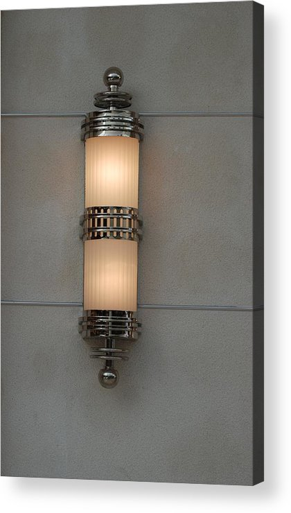 Sconce Acrylic Print featuring the photograph Lighted Wall Sconce by Rob Hans