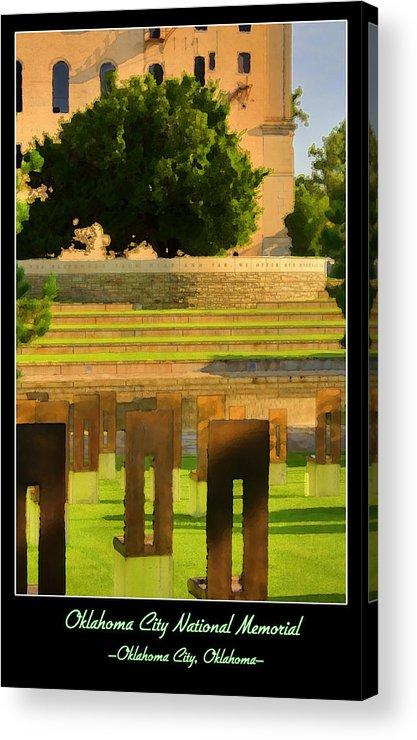 Oklahoma Acrylic Print featuring the photograph Oklahoma City National Memorial by Ricky Barnard