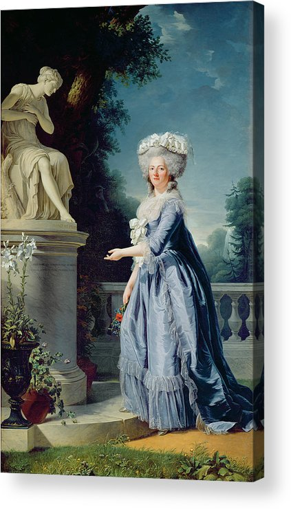 Portrait Acrylic Print featuring the painting Portrait Of Marie-louise Victoire De France by Adelaide Labille-Guiard