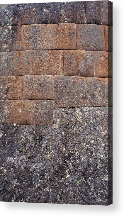 Inca Acrylic Print featuring the photograph Red Stone Bricks by Marcus Best