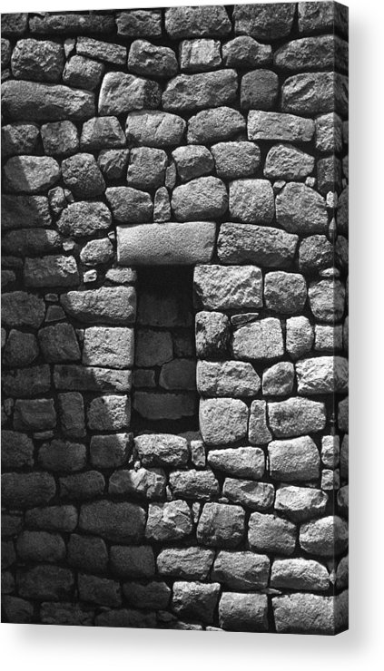 Machu Picchu Acrylic Print featuring the photograph Rock Window Shadow by Marcus Best