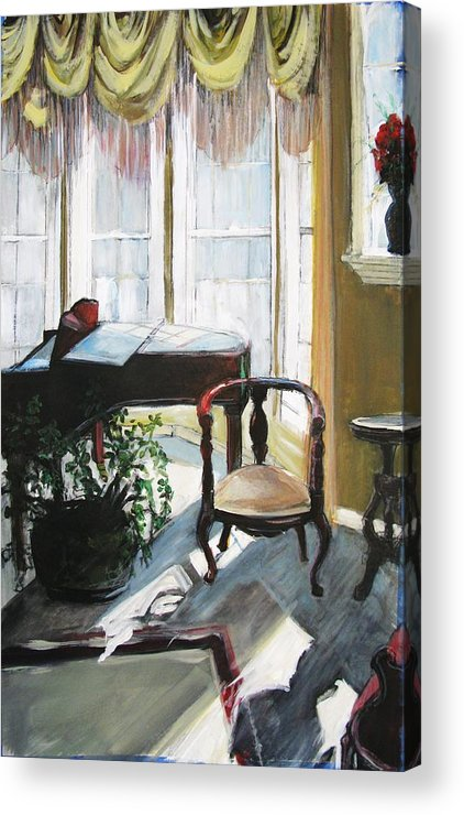 Piano. Parlor Acrylic Print featuring the painting Silent Sunlight by Michelle Winnie