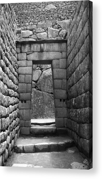 Machu Picchu Acrylic Print featuring the photograph Stone Door by Marcus Best