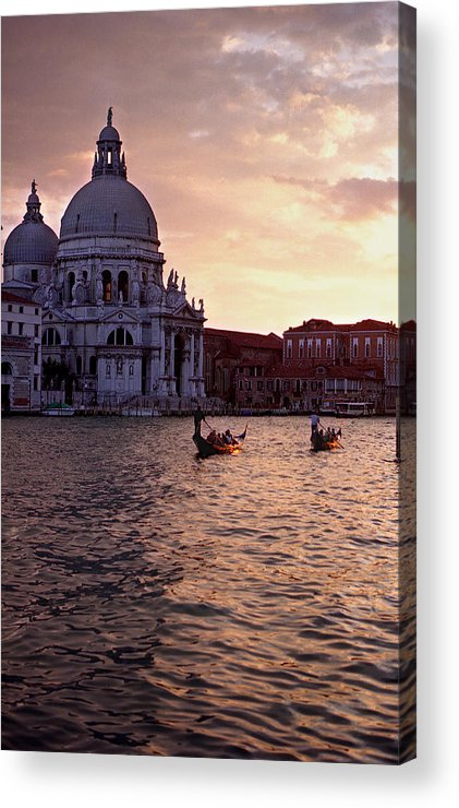 Water Acrylic Print featuring the photograph Sunset Venice Italy by Xavier Cardell