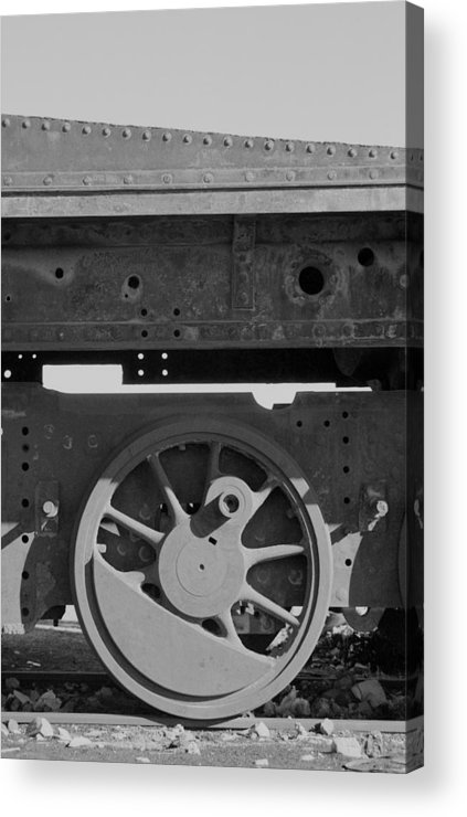 Train Acrylic Print featuring the photograph Train Wheel by Marcus Best