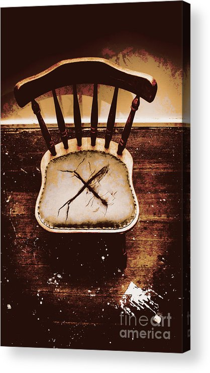 Chair Acrylic Print featuring the photograph X Marks The Spot by Jorgo Photography - Wall Art Gallery