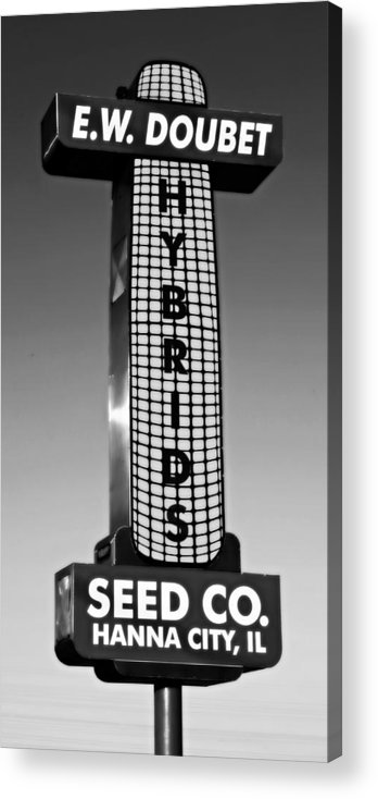Abstract Acrylic Print featuring the photograph Doubet Seed Company 1.0 by Stephen Stookey