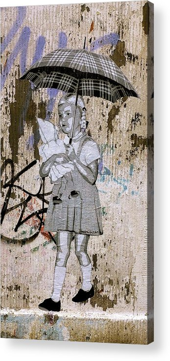 Graffiti Acrylic Print featuring the photograph In The Rain by Phoebe Quek