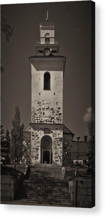 2012 Acrylic Print featuring the photograph The Church Of Kuopio by Jouko Lehto