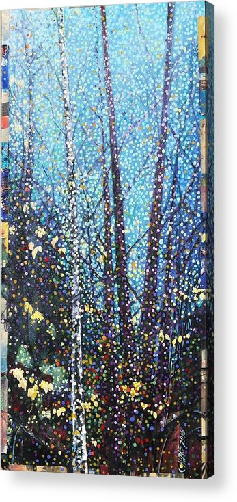 Birch Acrylic Print featuring the painting Play Misty For Me by Cindy Collins