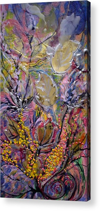 A Acrylic Print featuring the painting Collage In Autumn by Heather Hennick