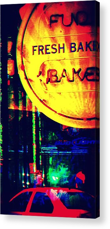 Sign Acrylic Print featuring the photograph Fresh Baked by Jill Tennison