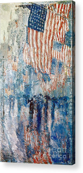 1917 Acrylic Print featuring the photograph Hassam Avenue In The Rain by Granger