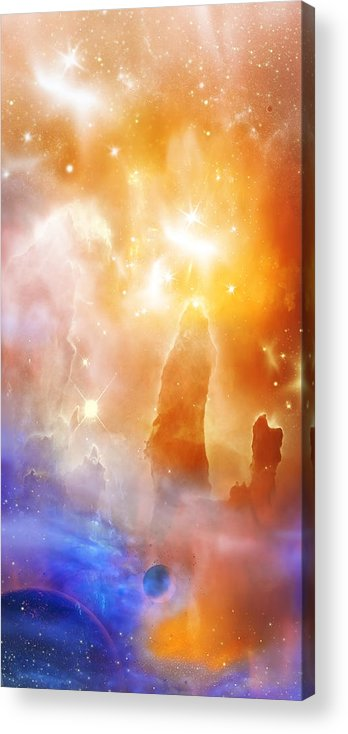 Abstract Acrylic Print featuring the digital art Space 007 by Svetlana Sewell