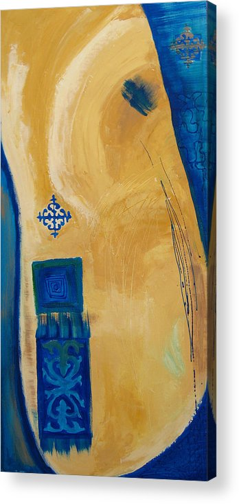 Abstract Acrylic Print featuring the painting Steppe Metamorphosis 1 by Aliza Souleyeva-Alexander