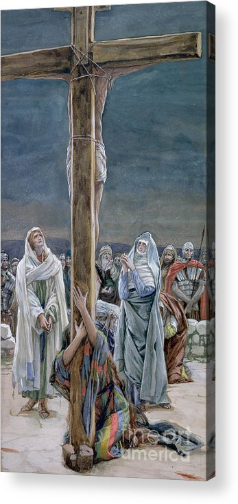 Stabat Acrylic Print featuring the painting Woman Behold Thy Son by Tissot