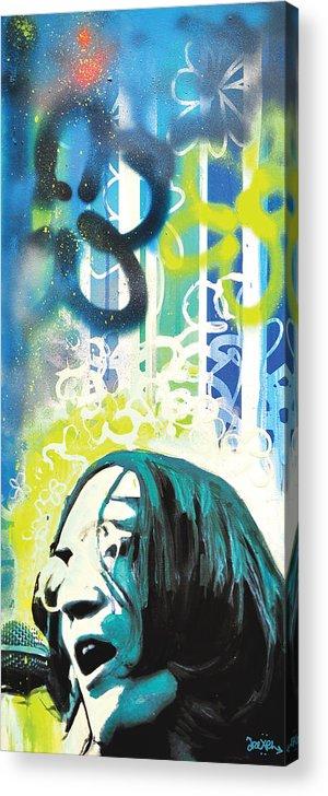 John Lennon Acrylic Print featuring the digital art Lennon by Erica Falke