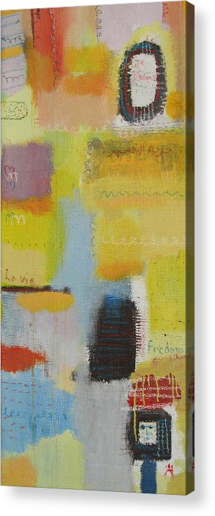 Abstract Acrylic Print featuring the painting Abstract Life 3 by Habib Ayat