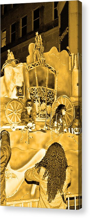 Computer Graphics Acrylic Print featuring the photograph Sepia Toned Glass Slipper by Marian Bell
