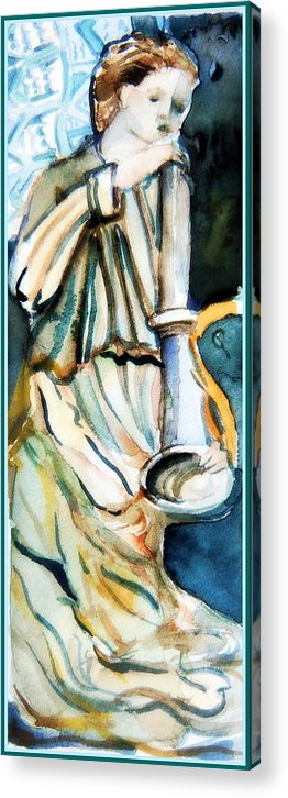 Gabriel Acrylic Print featuring the painting Gabriel by Mindy Newman