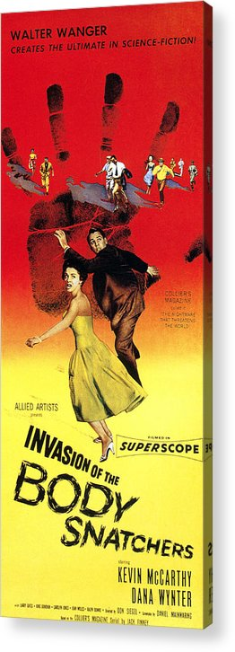 1950s Poster Art Acrylic Print featuring the photograph Invasion Of The Body Snatchers, Center by Everett