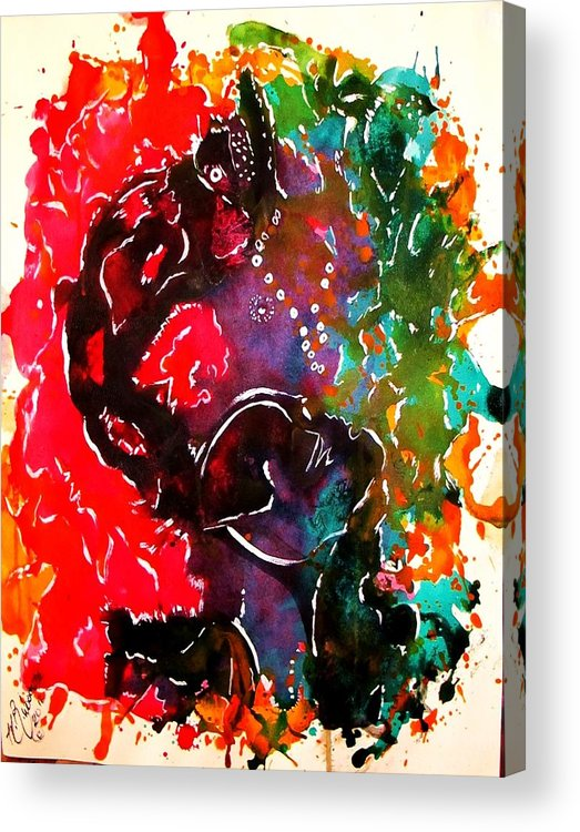 Abstraction Acrylic Print featuring the painting Breathe by Hilton Woodside