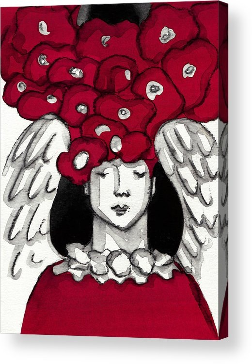 Angel Acrylic Print featuring the painting Keepers No 6 by Milliande Demetriou