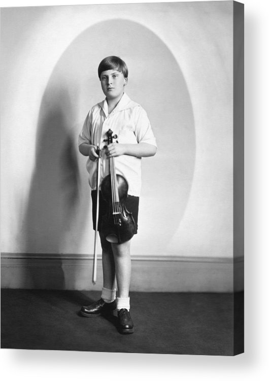 1931 Acrylic Print featuring the photograph Violinist Yehudi Menuhin by Underwood Archives