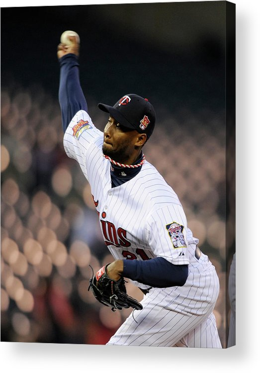 Game Two Acrylic Print featuring the photograph Toronto Blue Jays V Minnesota Twins - by Hannah Foslien