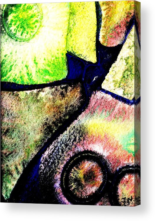 Abstract Landscape Acrylic Print featuring the mixed media Abstract 57 by John Nolan