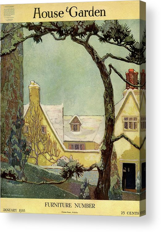 House And Garden Acrylic Print featuring the photograph An English Country House by Porter Woodruff