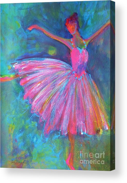 Acrylic Paintings Of Dancers Acrylic Print featuring the painting Ballet Bliss by Deb Magelssen