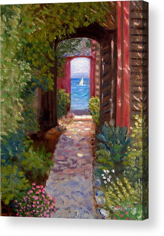 Sea Scene Acrylic Print featuring the painting Beyond The Sea by Claire Norris