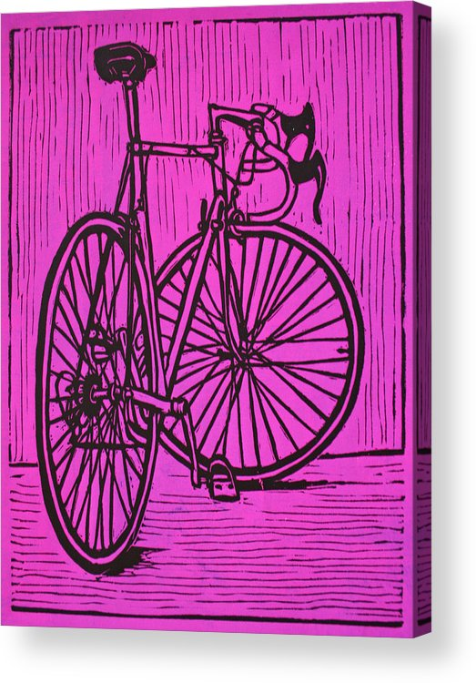 Bike Acrylic Print featuring the drawing Bike 4 by William Cauthern