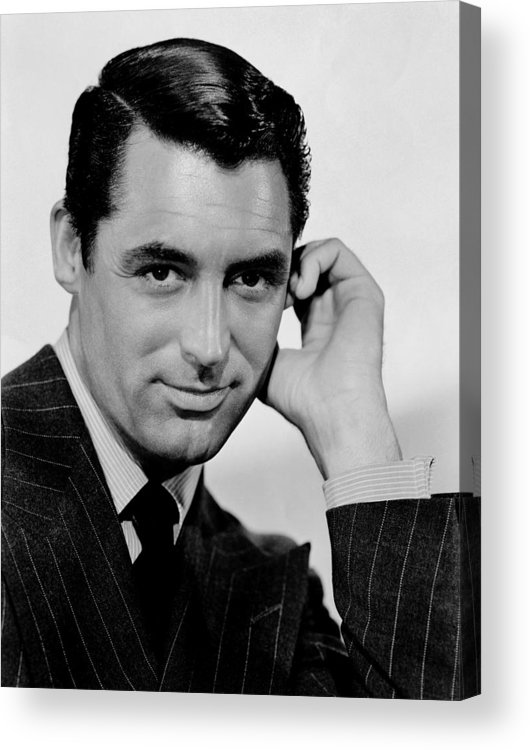 English-american Actor Cary Grant In A Publicity Still For The 1941 Film Suspicion Acrylic Print featuring the painting Cary Grant by Celestial Images