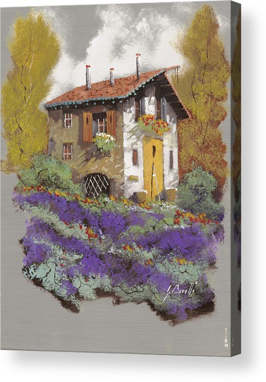 Landscape Acrylic Print featuring the painting Cento Lavande by Guido Borelli