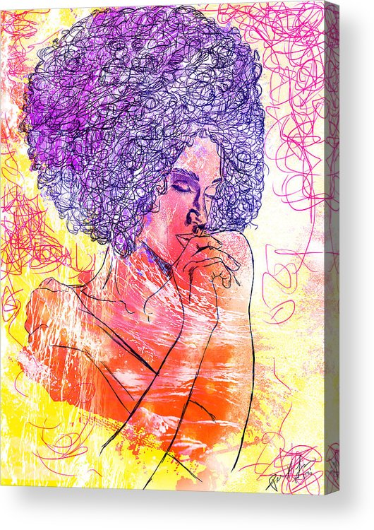 Colored Woman Acrylic Print featuring the digital art Colored Woman by Kenal Louis