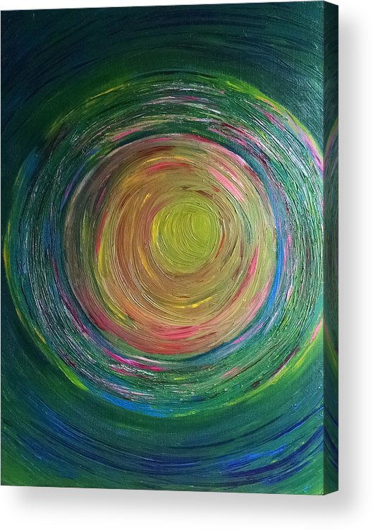 Channeled Acrylic Print featuring the painting Eclipse Of Time by Daina White