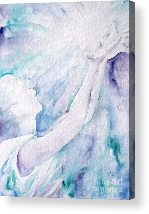 People Acrylic Print featuring the painting Give And Receive by Jennifer Apffel