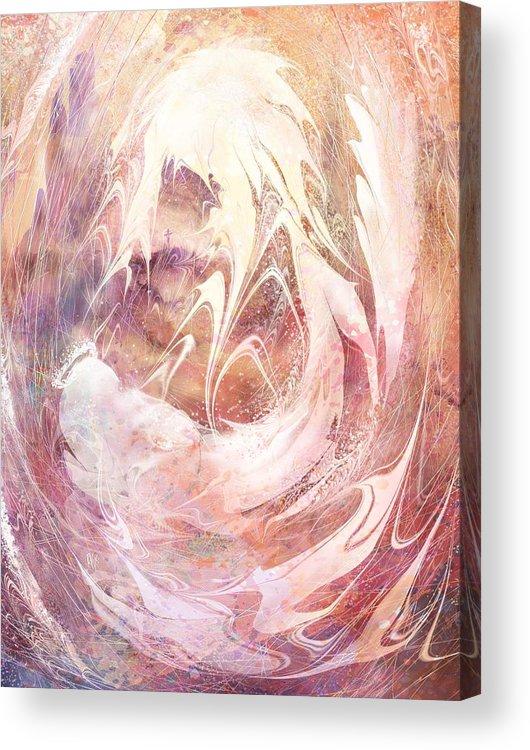 Immanuel Acrylic Print featuring the digital art Immanuel by Rachel Christine Nowicki