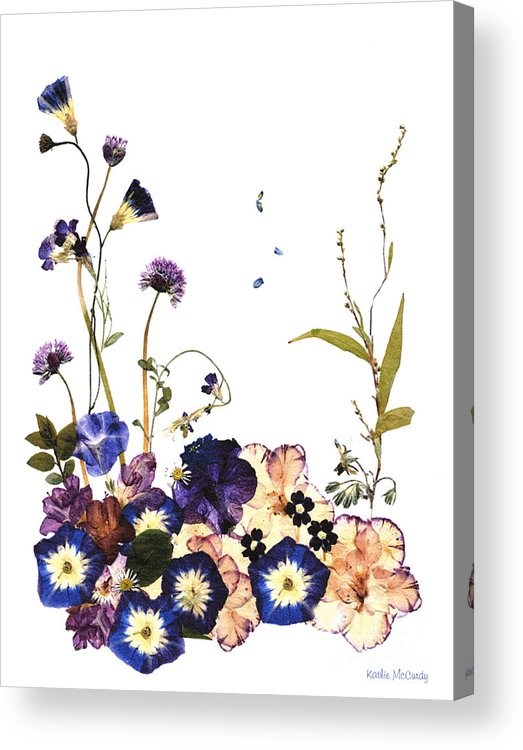 Botanical Acrylic Print featuring the digital art Into A Dream by Kathie McCurdy