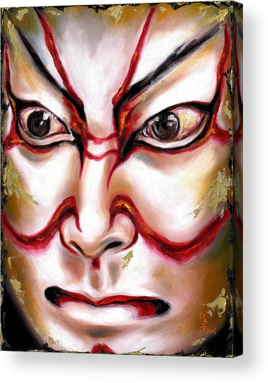 Kabuki Acrylic Print featuring the painting Kabuki One by Hiroko Sakai